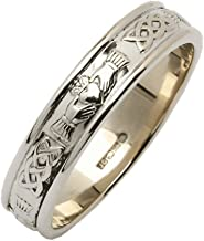 Fado Valentines Jewelry Mens Claddagh Ring Sterling Silver Made in Ireland