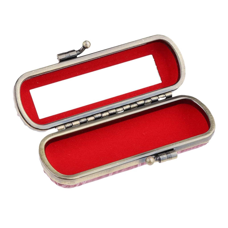 羨望面積精神医学B Blesiya リップスティックケース リップグロス 収納ボックス 化粧鏡 プレゼント 多色選べ   - 小豆