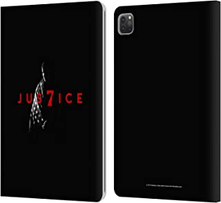Head Case Designs Officially Licensed JVY Creations Man with Flag Power 7 America Leather Book Wallet Case Cover Compatible with Apple iPad Pro 11 (2020)