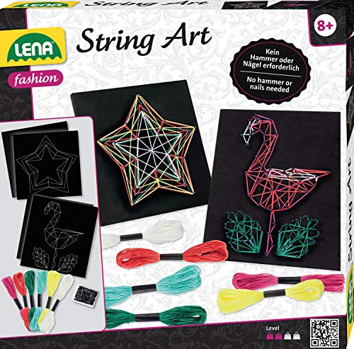 Simm Lena String Art Flamingo & Stern, bunt