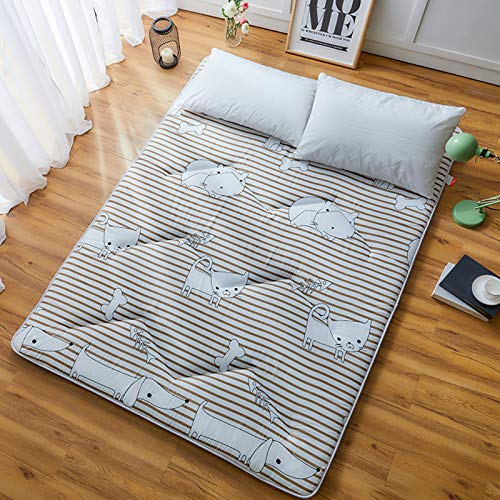 Thick Tatami Floor Mattress, Japanese Futon Mattress Quilted Hypoallergenic Folding Futon Mattress Sleeping Pad,Tatami Mat,Bed Roll,Foldable Roll Up Mattress,2,1.82.0m