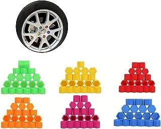 Garneck 20 pezzi esagonali in plastica universale copriruota copridado copridado protezioni dado bulloni coperchi vite proteggere cappucci per auto auto verde