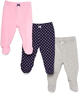 Spasilk Baby 3 Pack Cotton Footed Pants