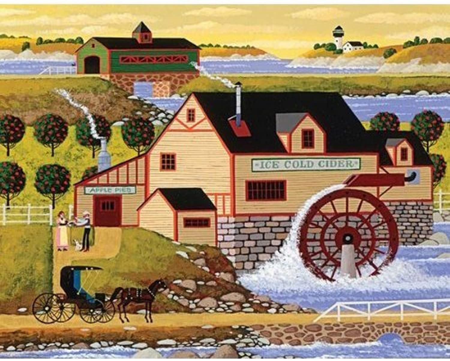 Mega Puzzles  Hometown Collection 1000 piece Old Cider Mill Puzzle by Mega Brands