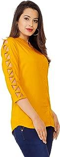 FAB STAR- LOOK GREAT FEEL GREAT.Women's Beautiful Designer Rayon Top for Women.