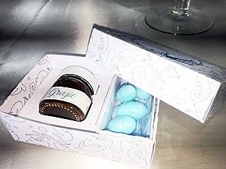 5 Bomboniere Sweet personalizzate con Nutelline mini, confetti in scatola personalizzata con grafica a tema per lieti even...