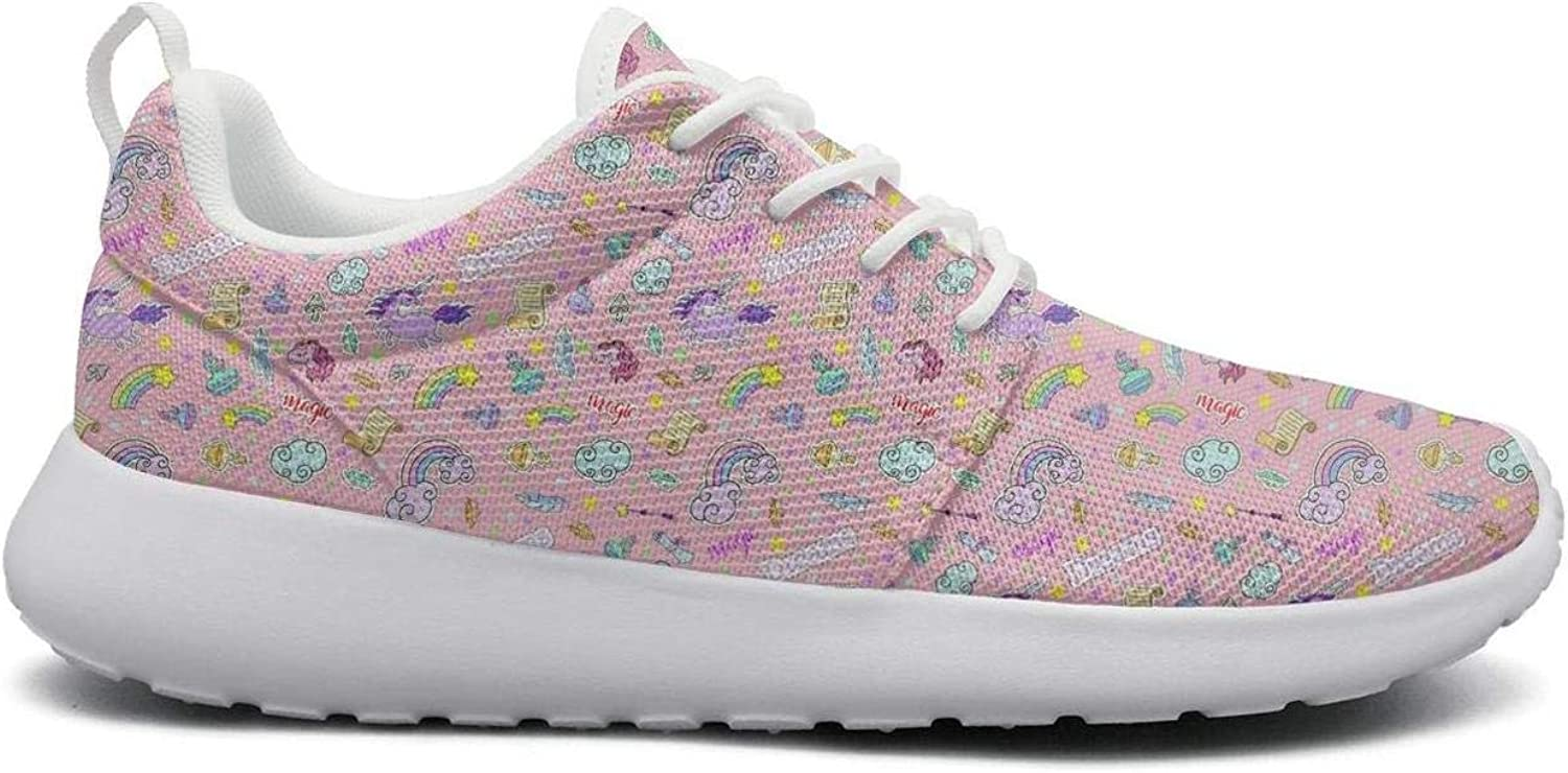 Unicorns Donuts Rainbow White Casual shoes for Women New Quick-Drying Running shoes