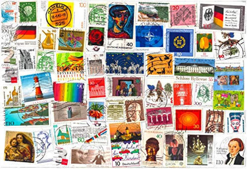 1000 Stamps from Germany (East, WEST, Federal). Mixed Philately, Used Postage Stamps Off Paper