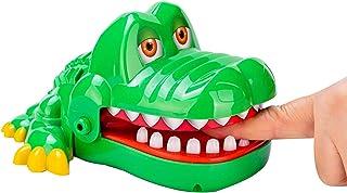 N.S Grappige krokodil bijten vinger speelgoed met pakket, draagbare gags speelgoed mini grootte hongerige krokodil tandart...