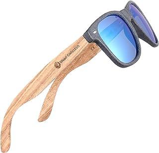 نظارات شمسية مستقطبة للرجال والنساء من خشب الجوز نظارات شمسية لركوب الدراجات والصيد حماية من الأشعة فوق البنفسجية بنسبة 100%