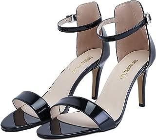 SHOESFEILD Women's Open Toe Strappy Stiletto High Heels for Women Dress Sandals