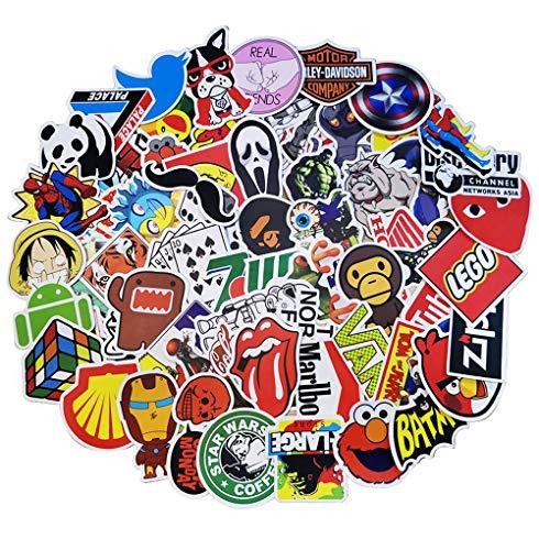 Aufkleber 100 Stück Wasserdicht Vinyl Stickers Graffiti Style Decals Trendy Anime Coole Stickers Aufkleber für Motorrad Fahrrad Auto Laptop KüHlschrank Skeatboard Tablet