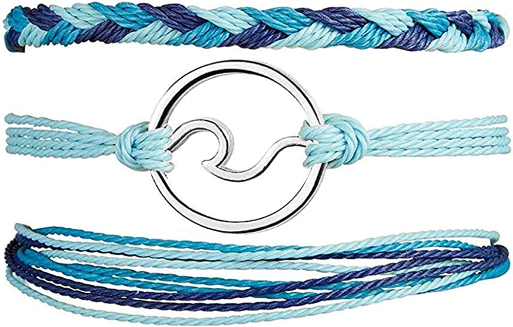3Pcs VSCO String Wave Max 81% OFF Bracelet Milwaukee Mall Wa Boho Handmade Women Adjustable