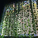 So Cal Pro Fake Ivy Leaves Artificial Ivy Greenery Vines for Room Decor Leaves Room Decor Fake Leaves Ivy Eucalyptus Garland Faux Vines Wedding Decor (6 Strands of Ivy)