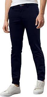 WestAcePantalon chino extensible pour homme Super Skinny Spandex Pantalon décontracté