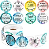 500 Pieces Scented Candle Labels Watercolor Candle Jar Container Stickers Waterproof Labels for Candle Making Supplies Candle Container DIY Candle Jars and Tins Candle Boxes Packaging, 1 Roll