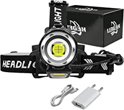 YINGNBH Hoofd Torch Nieuwe cob xhp100 krachtige koplamp led hoofd zaklamp lantaarn koplamp 18650 oplaadbare batterij jacht...