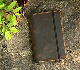 Personalized Leather cover for Leuchtturm 1917 Medium A5 Notebook/Minimalist leather journal cover for Leuchtturm1917 JOTTBOOK A5 - LA505S