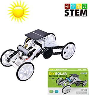Alphabet Robot Climbing Projects Science Experiment Solar Power Car 4WD Motor Car Projects Science Experiment for Kids & Teens