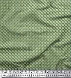 Soimoi Grün Samt Stoff Geometrisch & griechische