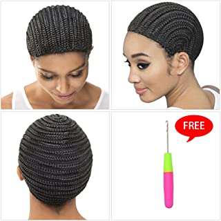 Cornrow Wig Caps For Making Wigs With Adjustable Stretch 2pcs/lot Wig Sewing Cap Crochet Braids Wigs Cap