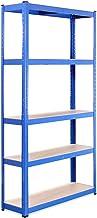 G-Rack Opbergrek voor garage: 180 cm x 90 cm x 30 cm | Blauw - 5 stappen | 175 kg per plank (875 kg capaciteit) | 5 jaar g...