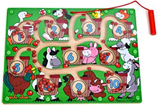Melissa & Doug 2280 Magnetic Wand Number Maze - Wooden Puzzle Activity