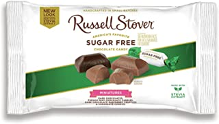 Russell Stover Sugar Free Assorted Chocolate Candy Miniatures Laydown Bag, 9 Ounce