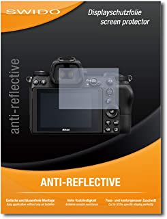 SWIDO® Protector de Pantalla para Nikon Z6 [Anti-Reflex] [2 Piezas] Antirreflectante Mate Anti-Arañazos Anti-Huella Dactilar - Película Protectora
