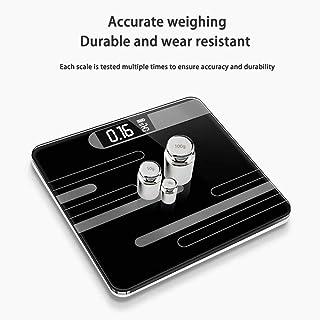 HJTLK Básculas de baño Digitales, báscula Básculas electrónicas Inteligentes, báscula de Grasa/músculo/Grasa visceral Máx. 180 kg, Rosa