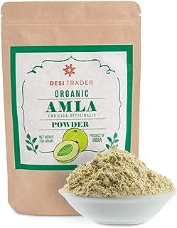 Organic Amla Powder 7 oz, 100% Pure Amalaki Powder – Fresh, Vegan & Natural Non-GMO, Gluten-Free Indian Gooseberry Powder - Latest Crop