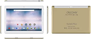 Discover Note 5 Plus, Tablet 10.1 Inch, Android 7.0, 64GB, 4GB DDR3, 4G, Wi-Fi, Quad Core, Dual Sim, Dual Camera, (Gold)