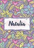 Natalia: Taccuino A5 | Nome personalizzato Natalia | Regalo di compleanno per moglie, mamma, sorella, figlia | Design: floreale | 120 pagine a righe, piccolo formato A5 (14.8 x 21 cm)