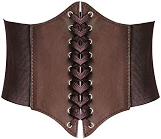 Hanerdun Lace-up Corset Elastic Retro Cinch Belt Waist Belt Four Sizes
