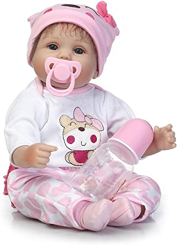 Broadroot Simulierte Nette Reborn Baby Doll Lebensechte Mode Kinder Playmate Silikon Geschenk Gefüllte Spielzeug