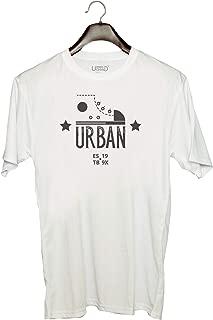 UDNAG Unisex Round Neck Graphic 'Urban' Polyester T-Shirt (White, XX-Large)