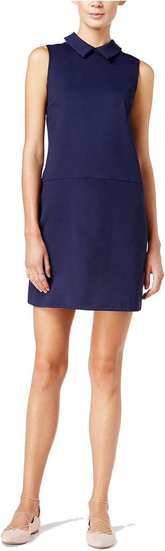 Maison Jules Womens Point-Collar Shift Dress