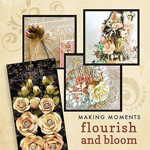 Graphic 45 Rose Bouquet Collection—Classic Ivory & Natural Linen Paper Flowers, Multi Silk Flower Arrangements