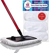 VanDuck 100% Cotton Terry Mop Pads 15x8 Inch 3-Pack