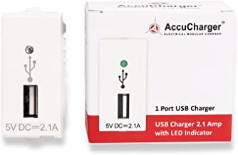 Accucharger IIP-EMC-303 USB Modular Charger (Single Module Socket Charger with 2.1A for GM Fitting)