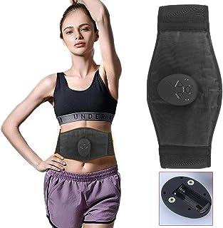 LEAMER (Neutral Electrónico Cinturón de entrenamiento abdominal portátil abdominal EMS Estimulador elástico de entrenamiento para hombres y mujeres para el dolor abdominal