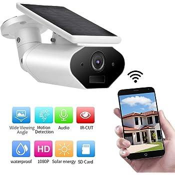 1080P WiFi Solar Kamera IP67 Nachtsicht IR Außen Audio Überwachungskamera PIR