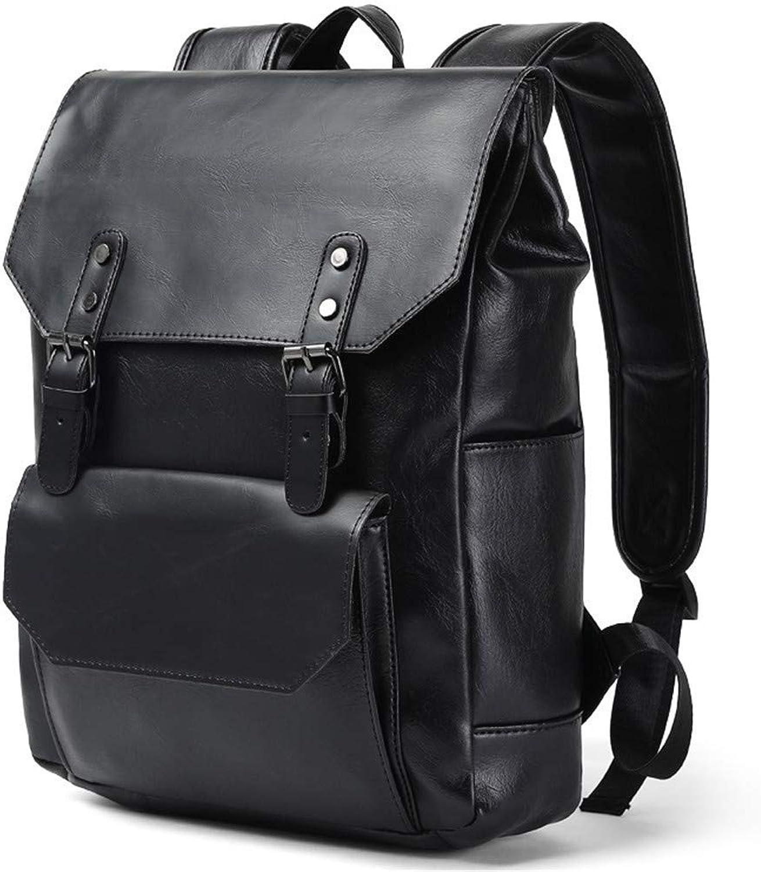 Willsego Luxus Crazy Horse Mnner Rucksack Leder Vintage Daypack Casual Schulbuchtasche Mnnlichen Laptop Reise Rucksack Schwarz (Farbe   Schwarz, Gre   Einheitsgre)