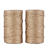 Jute Twine 656 Feet 3Ply Natural Arts Crafts Jute Rope Durable Packing String...