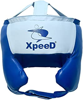 Xpeed Spar Boxing Head Gear PU Leather Full Open Face Headguard Protector Boxing Helmet