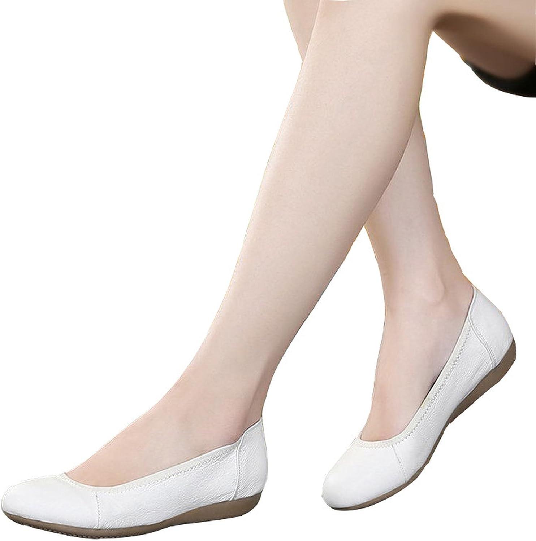 Nutsima Women shoes Woman Genuine Leather Flat Work shoes Woman Casual Loafers Fashion Women Flats