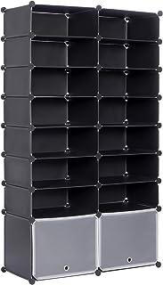 WOLTU Zapatero Modular Estantería por Módulos DIY Zapatero con 16 estantes Almacenamiento para Habitación Salón Baño 94x3...
