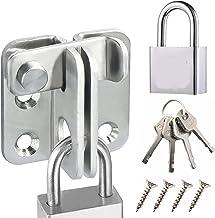 YFaith Hasp Klink Gate Bolt Lock met hangslot,RVS schuur Lock Gate Klink voor Houten Gates Flip 2,5 mm Verdikte Heavy Duty...