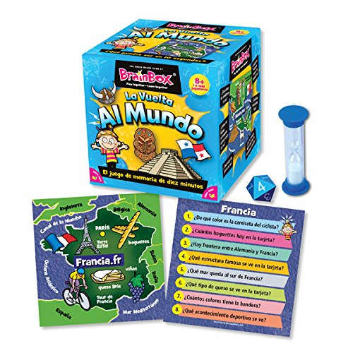 Brain Box Juego de Memoria Al Mundo, Multicolor (Green Board Games 316460A)