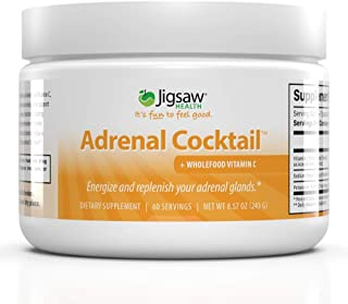 Jigsaw Health Adrenal Cocktail Drinkable Powder Jar with Wholefood Vitamin C, Potasium, and Redmon's Real S...